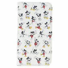 ミッキーマウス iPhone XS ケース アイフォン XS 手帳型 フリップカバー 総柄 ディズニー 5.8インチモデル メール便可