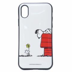 スヌーピー プレゼント iPhone XS ケース アイフォン XS プロテクトカバー イーフィット ピーナッツ 5.8インチモデル メール便可
