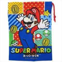 スーパーマリオ 巾着袋 歯ブラシホルダー付コップ袋 MARIO 17 nintendo 15×21cm キャラクター グッズ