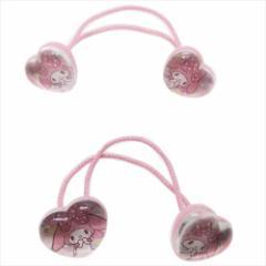 マイメロディ ヘアアクセ シェイクヘアポニー2本セット ドットリボン ピンク サンリオ 女の子向け キャラクター グッズ メール便可