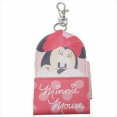 ミニーマウス キャラ鍵カバー リール式キーケース 2019年新入学 ディズニー ランドセル取り付けベルト付き メール便可