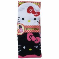 ハローキティ 女性用靴下 レディース耳付きソックス ホワイト&ブラック サンリオ 22〜24cm キャラクター グッズ メール便可
