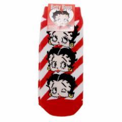 ベティブープ 女性 用 靴下 レディース ソックス 3ピース 23〜25cm キャラクター グッズ メール便可