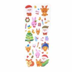 サンタのおくりもの ぷっくりシール クリスマスシール Snow シリーズ 手帳デコ Xmas雑貨 グッズ メール便可