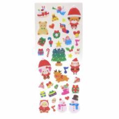 クリスマスパーティー ぷっくりシール クリスマスシール Snow シリーズ 手帳デコ Xmas雑貨 グッズ メール便可