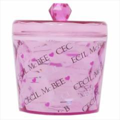 セシルマクビー 保存容器 キラキラキャニスター ピンク CECIL McBEE 直径10.5×9.5cm レディースブランド グッズ