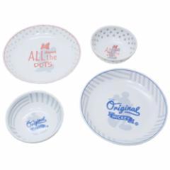 ミッキー & ミニー 食器 ギフトセット ペアボウル & プレート スウィートペアコーデ ディズニー 20cmお皿2枚&12.5cm小鉢2枚