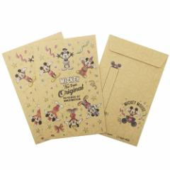 ミッキーマウス ぽち袋 お年玉 クラフト ポチ袋 3枚セット B 90周年記念 ディズニー 金封 キャラクター グッズ メール便可