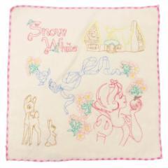 白雪姫 ミニタオル 刺繍 ハンドタオル フォレストメモリー ディズニープリンセス 25×25cm キャラクター グッズ メール便可