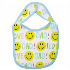 SMILE DAD コットンスタイ ベビービブ 赤ちゃんエプロン ギフト雑貨 グッズ メール便可
