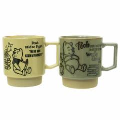 くまのプーさん ペア食器 ペアマグカップ タイムフォーリーディング ディズニー 直径約8.2×9.2cm キャラクター グッズ