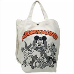ミッキーマウス トートバッグ 2wayショルダートート ロゴOR ディズニー 34×35×13cm キャラクター グッズ