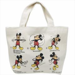 ミッキーマウス ランチバッグ マチ付きコットンバッグ 体操 ディズニー 29.5×20×9cm キャラクター グッズ