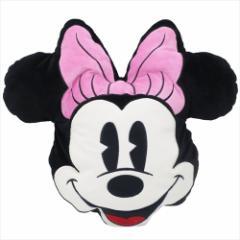 ミニーマウス 防寒雑貨 ブランケットinクッション フェイス ディズニー 100×70cm キャラクター グッズ