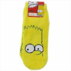 シンプソンズ 女性用防寒靴下 レディースもこもこショートソックス アップ Simpsons 23〜25cm キャラ