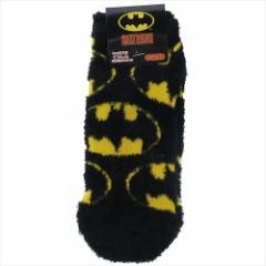 バットマン 女性用防寒靴下 レディースもこもこショートソックス アイコンパターン DCコミック 23〜25cm メ