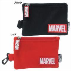 MARVEL 定期入れ 小物入れ付きパスケース ロゴ マーベル ICカードケース キャラクター グッズ メール便可
