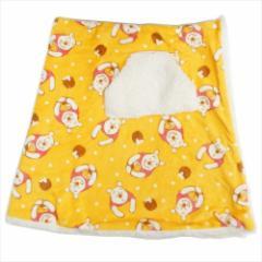 くまのプーさん ラップ毛布 シープボアスカートブランケット はちみつ ディズニー 150×70cm キャラクター グッズ
