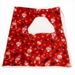 ムーミン ラップ毛布 シープボアスカートブランケット リトルミイ お花畑 北欧 150×70cm キャラクター グッズ