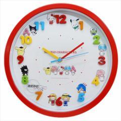 サンリオキャラクターズ 壁掛け時計 アイコンウォールクロック 2018AW サンリオ ギフト雑貨 キャラクター グッズ