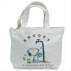 スヌーピー ランチバッグ ミニトートバッグ WASH ピーナッツ お弁当鞄 キャラクター グッズ
