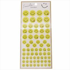 スマイリーフェイス シールシート DECOミニステッカー シンプル Smiley Face 手帳デコ キャラクター グッズ メール便可
