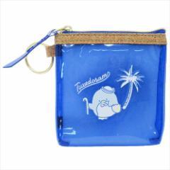タキシードサム 透明ミニポーチ PVCクリアカラースクエアポーチ ブルー サンリオ 10×10cm キャラクター グッズ