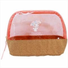 マイメロディ 透明コスメポーチ PVCクリアカラードーム型ポーチ ピンク サンリオ 19×14×7cm キャラクター グッズ