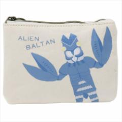 ウルトラマン ミニポーチ 帆布ポケット ティッシュケース バルタン星人 13×10×1cm キャラクター グッズ メール便可