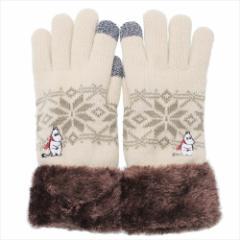 ムーミン 手袋 ワンポイント刺繍 スマホ対応手袋 ムーミン マフラー 北欧 防寒対策 キャラクター グッズ