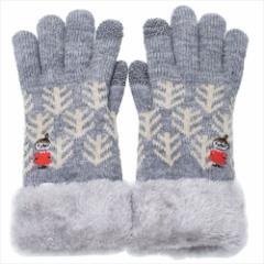 ムーミン 手袋 ワンポイント刺繍 スマホ対応手袋 リトルミイ 北欧 防寒対策 キャラクター グッズ