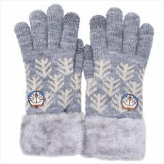 ドラえもん 手袋 ワンポイント刺繍 スマホ対応手袋 フェイス 防寒対策 アニメキャラクター グッズ