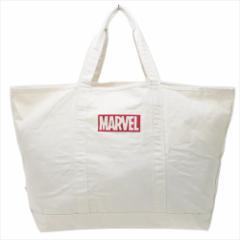 マーベル 手提げかばん ビッグトートバッグ BOXロゴ レッド 大容量サイズ キャラクター グッズ