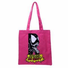 スパイダーマン トートバッグ キャンバス カラートート VENOM ピンク マーベル 手提げかばん キャラクター グッズ