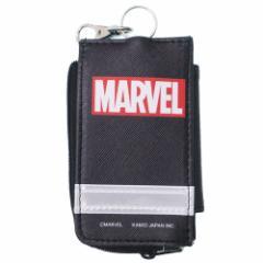 MARVEL キッズ 鍵カバー ケース リール付き ランドセル キーケース BOX ロゴ マーベル 新学期 準備 雑貨 メール便可