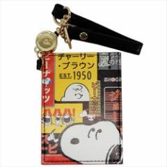 スヌーピー 定期入れ リール付きシングルパスケース Urban Samurai ピーナッツ ICカードケース キャラクター グッズ メール便可