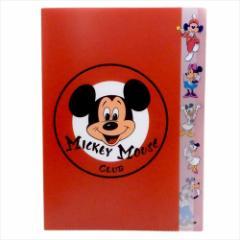 ミッキーマウス ファイル A4ダイカット5ポケットクリアファイル MICKEY MOUSE CLUB ロゴマーク ディズニー 文具 メール便可