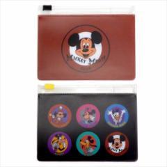 ミッキーマウス ビニールポーチ スライダーケース2枚セット MICKEY MOUSE CLUB レッド ディズニー ギフト雑貨 メール便可