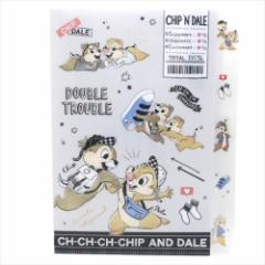 チップ&デール ファイル ダイカット5インデックスA4クリアファイル ファッション ディズニー 新学期準備雑貨 キャラクター グッズ