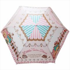 リトルツインスターズ キキ&ララ 折畳耐風傘 折りたたみかさ スイーツ サンリオ 約53cm キャラクター グッズ