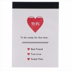 シンプル×ハート メモ帳 ミニミニメモ CHARGE MY HEART 新学期準備雑貨 文具 グッズ メール便可