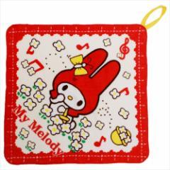 マイメロディ ループタオル 幼稚園ハンドタオル お花摘み サンリオ 33×33cm キャラクター グッズ メール便可