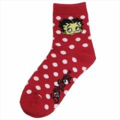 ベティブープ 女性用靴下 レディースクルーソックス DOT 23〜25cm キャラクター グッズ メール便可