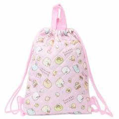 すみっコぐらし 体操服かばん キルト ナップサック ピンク サンエックス 31×39.5cm キャラクター 雑貨