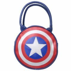 キャプテンアメリカ ハンドバッグ ラウンドバッグ シールド マーベル 23×23×7cm キャラクター グッズ
