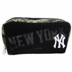 ニューヨークヤンキース ペンケース スクエアペンポーチ メジャーリーグ MLB 新学期準備雑貨 キャラクター グッズ