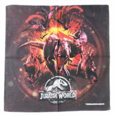 ジュラシックワールド ランチクロス コットンナフキン インパクトモーメント 恐竜 43×43cm キャラクター グッズ メール便可