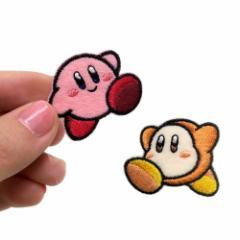 星のカービィ ワッペン ミニアイロンパッチ2個セット nintendo 入園入学準備雑貨 キャラクター グッズ メール便可