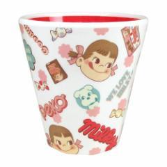 ペコちゃん プラコップ Wプリント メラミンカップ ミルキー ピンクチラシ 不二家 キッズ食器 キャラクター グッズ