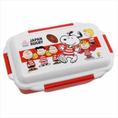 スヌーピー×ラグビー日本代表 お弁当箱 4点ロックふわっとランチボックス チェリーブロッサムズ ピーナッツ 500ml キャラクター グッズ